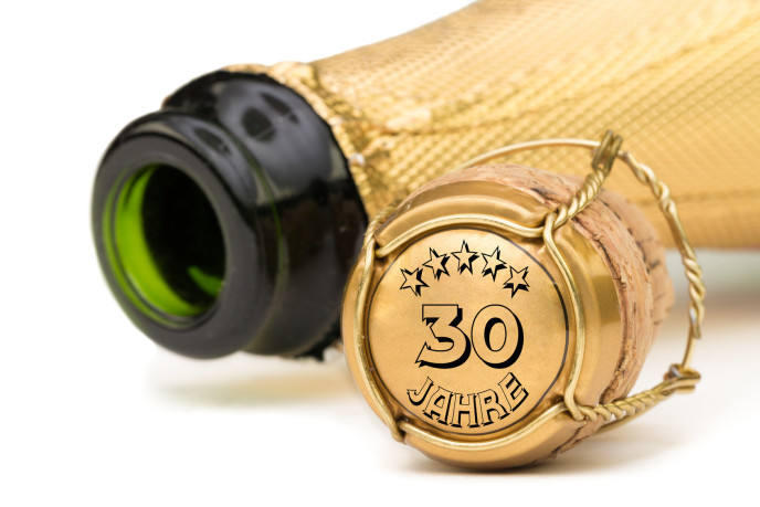 30 Jahre AUDIOSAUL - Champagnerflasche