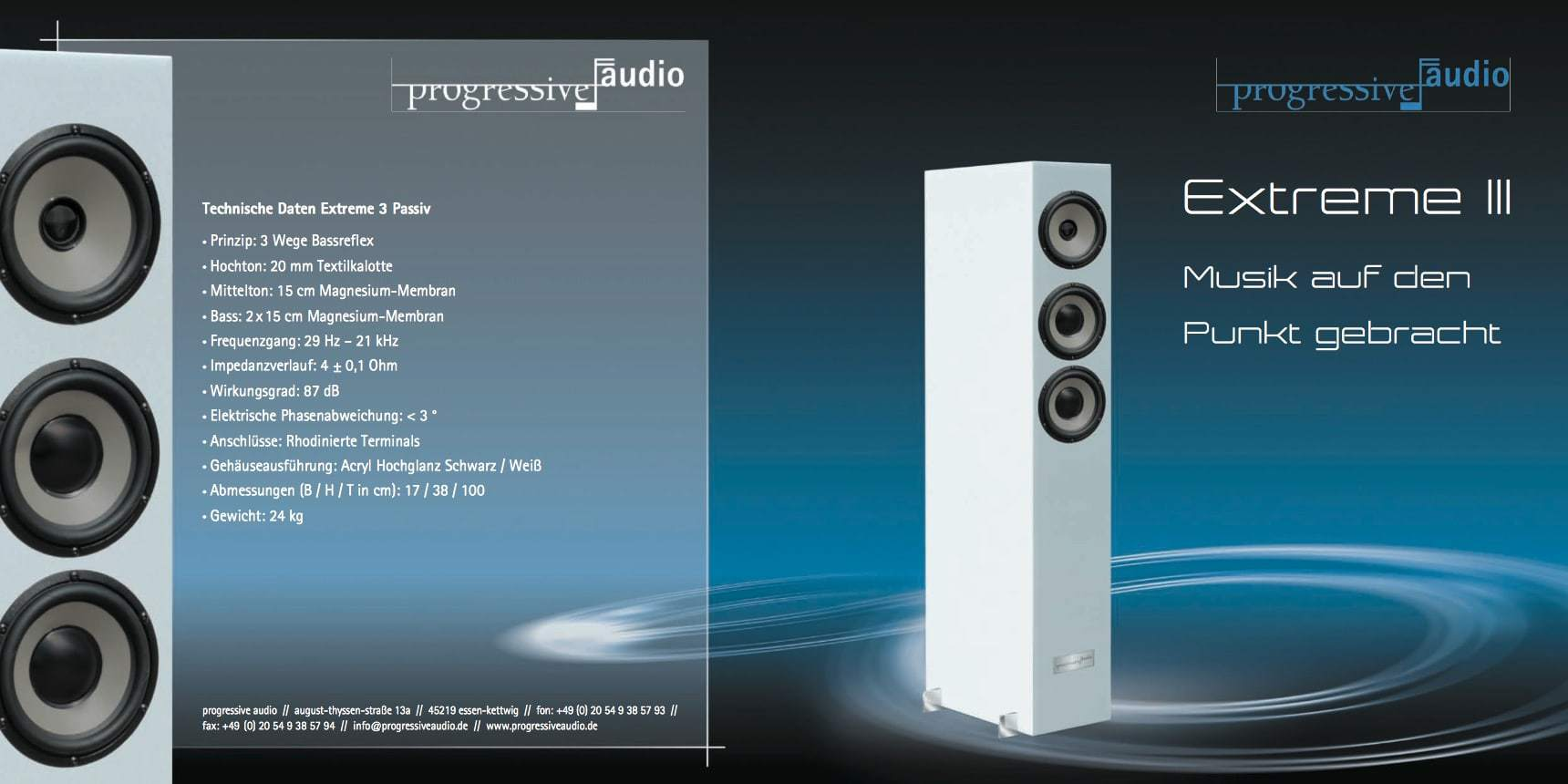 Prospekt Progressive Audio Extreme 3 Seite 1