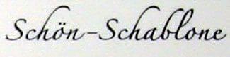 Schön-Schablone
